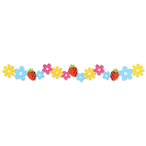 Flowers & Strawberries Sizzlits Decorative Strip Die by Sizzix