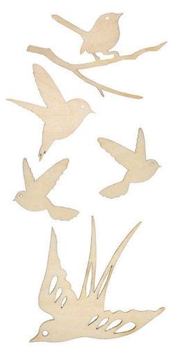 Birds Wood Flourishes by KaiserCraft