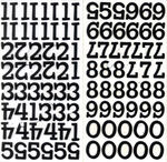 Sprinkles Numbers Black Glitter Chipboard by American Crafts