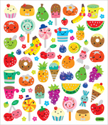 Fruit Faces Novelty Stickers