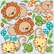 Jungle Kitties 12x12 Icon Stickers by Reminisce