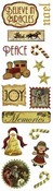 Vintage Christmas Clearly Stickers Stickers by Karen Foster