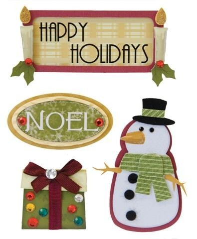 Happy Holidays Stacked Stickers by Karen Foster