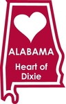 Alabama STATE-ments Plate Sticker by Karen Foster