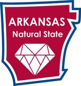 Arkansas STATE-ments Plate Sticker by Karen Foster