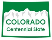 Colorado STATE - ments Plate Sticker by Karen Foster
