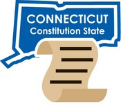 Connecticut STATE-ments Plate Sticker by Karen Foster