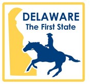 Delaware STATE-ments Plate Sticker by Karen Foster