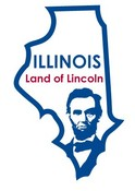 Illinois STATE - ments Plate Sticker by Karen Foster
