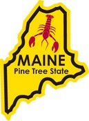 Maine STATE - ments Plate Sticker by Karen Foster