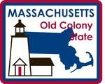 Massachusetts STATE - ments Plate Sticker by Karen Foster