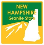 New Hampshire STATE-ments Plate Sticker by Karen Foster