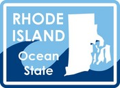 Rhode Island STATE-ments Plate Sticker by Karen Foster