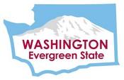 Washington STATE - ments Plate Sticker by Karen Foster