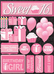 Sweet 16 3D Stickers by Reminisce