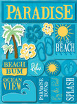 Paradise 3D Stickers by Reminisce