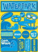 Waterpark 3D Stickers by Reminisce