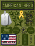 American Hero 3D Stickers by Reminisce