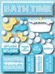 Bath Time 3D Stickers