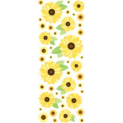 Sunny Sunflowers Puffy Stickers