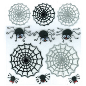Cute Spiders and Webs Stickers