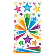 Retro Stars Epoxy Stickers