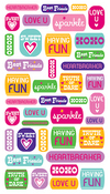 Sparkle Phrases Epoxy Stickers