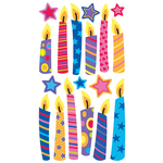Birthday Candles Epoxy Stickers
