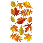 Fall Leaves Epoxy Stickers
