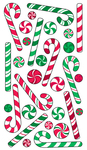 Candy Canes Epoxy Stickers