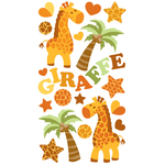 Baby Giraffe Epoxy Stickers