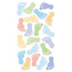 Foot Prints Boys Epoxy Stickers
