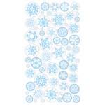 Icy Snowflakes Epoxy Stickers