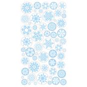 Icy Snowflakes Epoxy Stickers