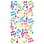 Music Notes Epoxy Stickers