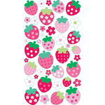 Strawberries Epoxy Stickers