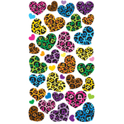 Animal Print Hearts Epoxy Stickers