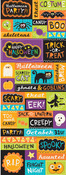 Spooktacular Embossed Stickers