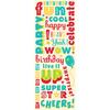Confetti Birthday Word Glitter Stickers