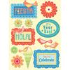 Confetti Birthday Adhesive Chipboard Stickers
