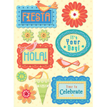 Confetti Birthday Adhesive Chipboard Stickers