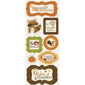 Warm Memories Chipboard Stickers - Apple Cider By Imaginisce
