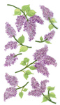 Lovely Lilacs Stickers By Jolee - EK Success