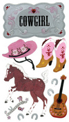 Cowgirl Stickers By Jolee - EK Success