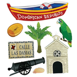 Dominican Republic Stickers By Jolee - EK Success