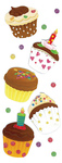 Cupcake Stickers By Jolee - EK Success