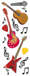 Guitars and Music Notes Stickers By Jolee - EK Success