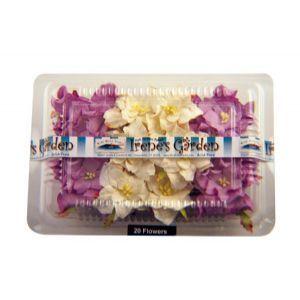 Lilac & White Irene's Garden Box O' Gardenias