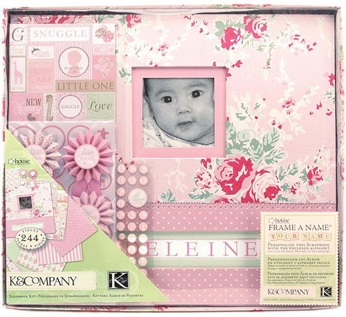 K And Company Scrap Kits Scrapbook Kit Baby Girl Frame A Name A