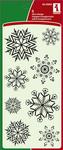 Fun Snow Flakes Clear Stamps - Inkadinkado